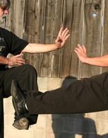 Counter kicking Kung Fu style