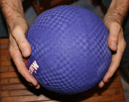 rubber band and ball