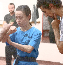 Assistance in Kung Fu class